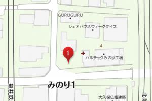 ウィークタイズ 駐車場1 地図