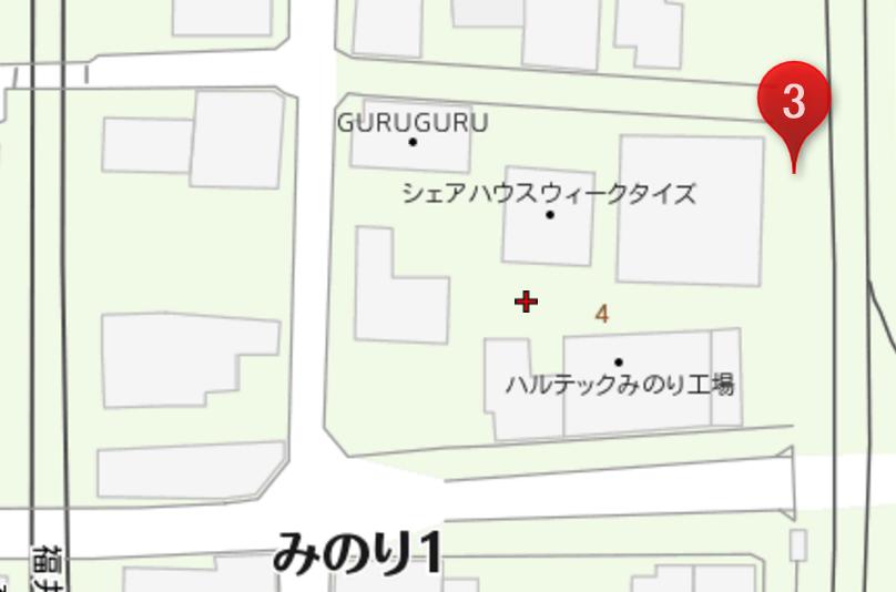 guruguru 駐車場 工場横